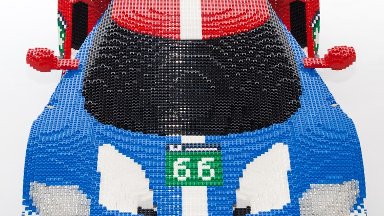 LEGO Ford GT Race Car Goes on Display in Le Mans