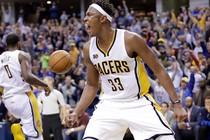 Myles Turner bezorgt Dallas Mavericks problemen. © AFP