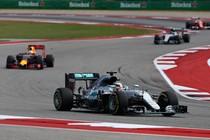 Hamilton leidt de GP van de VS. © Red Bull