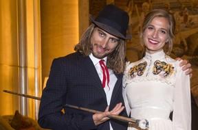 Peter Sagan met zijn vrouw Katarina. © AFP