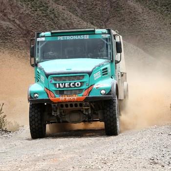 Gerard de Rooy in actie tijdens de Dakar Rally. © EPA